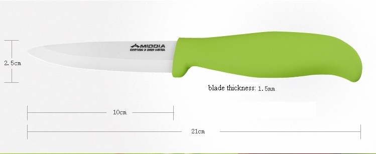 Zirconium Oxide Ceramic Fruit Knife with Sheath for Camping