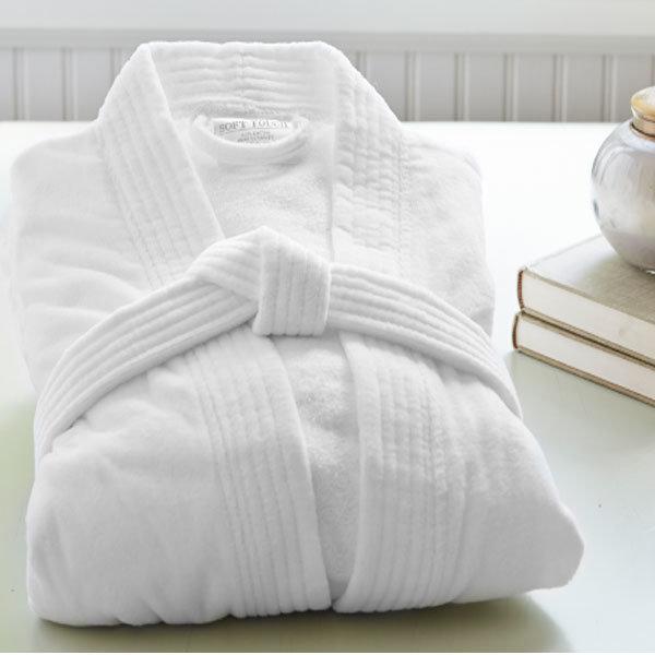 Factory Wholesale High Quality Cotton Hotel Bathrobe (DPFT8068)