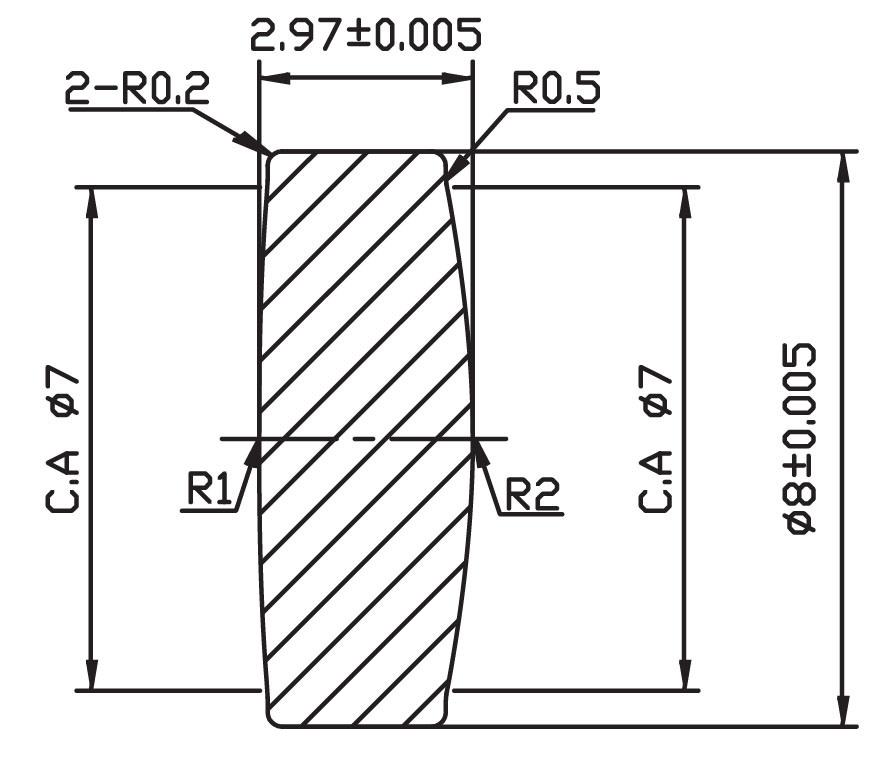 Focus Glass Lens (ASPHERIC DESIGNING) Bb05