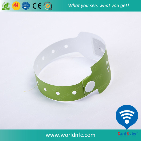 13.56 MHz Passive Disposable RFID Paper Wristband for Festival