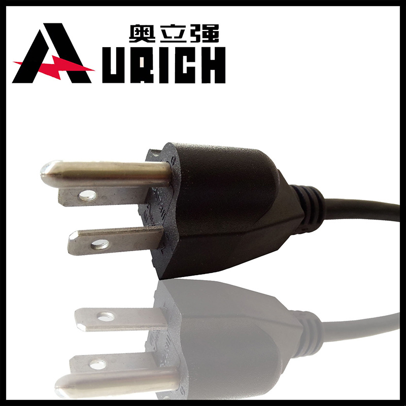 Home Appliance UL 10A 13A 125V 2pins Power Cord Plug