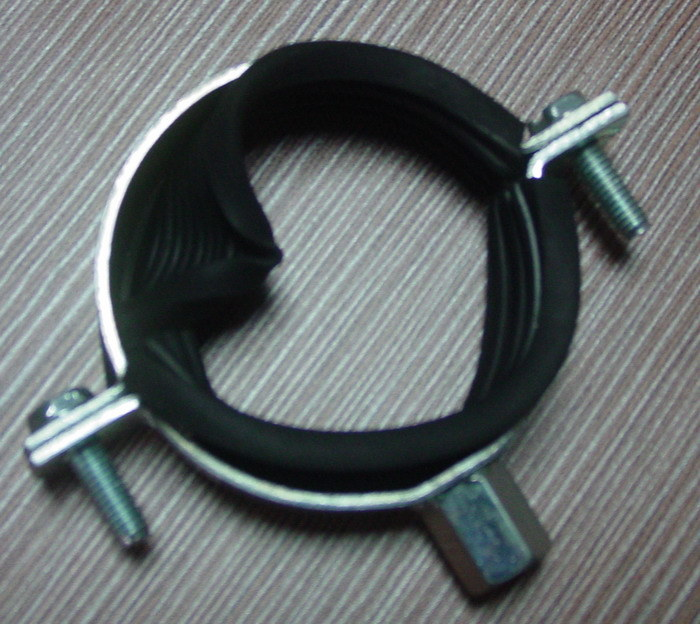 Heavy Duty Pipe Clamp with Ruber or Without Rubber