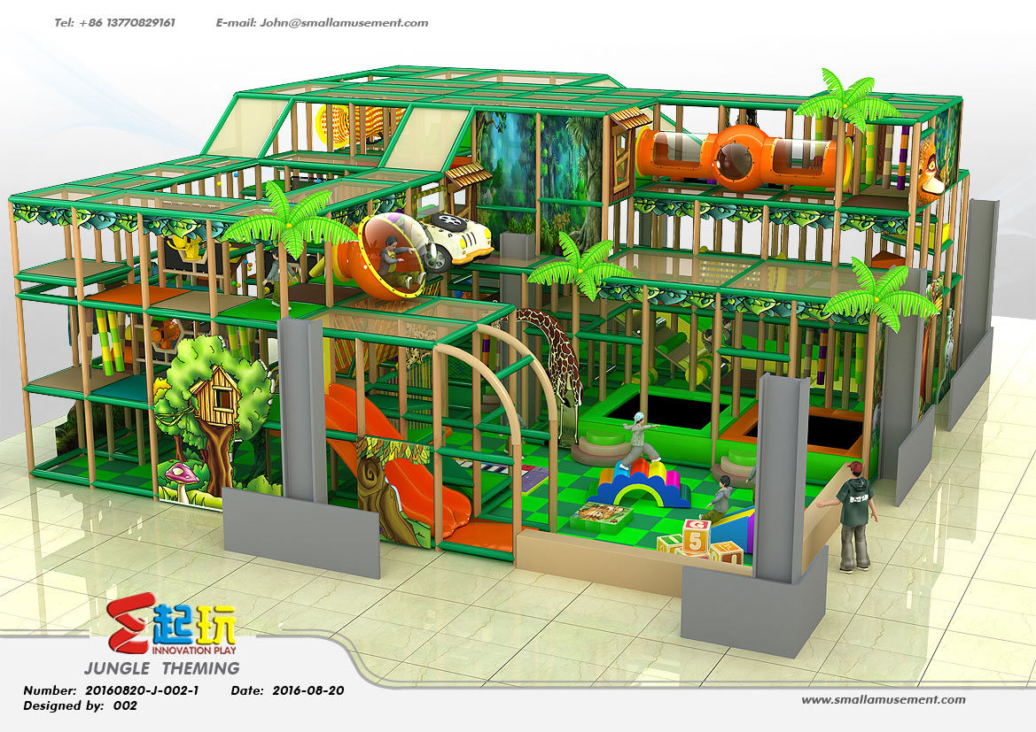 Professional Manufacturer of Jungle Themed Indoor Playground Equipment
