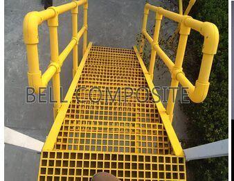 Fiberglass Handrailing, GRP/FRP Handrails, Fence, Stair Treads, Cover, Rejilla De Fibra De Vidrio