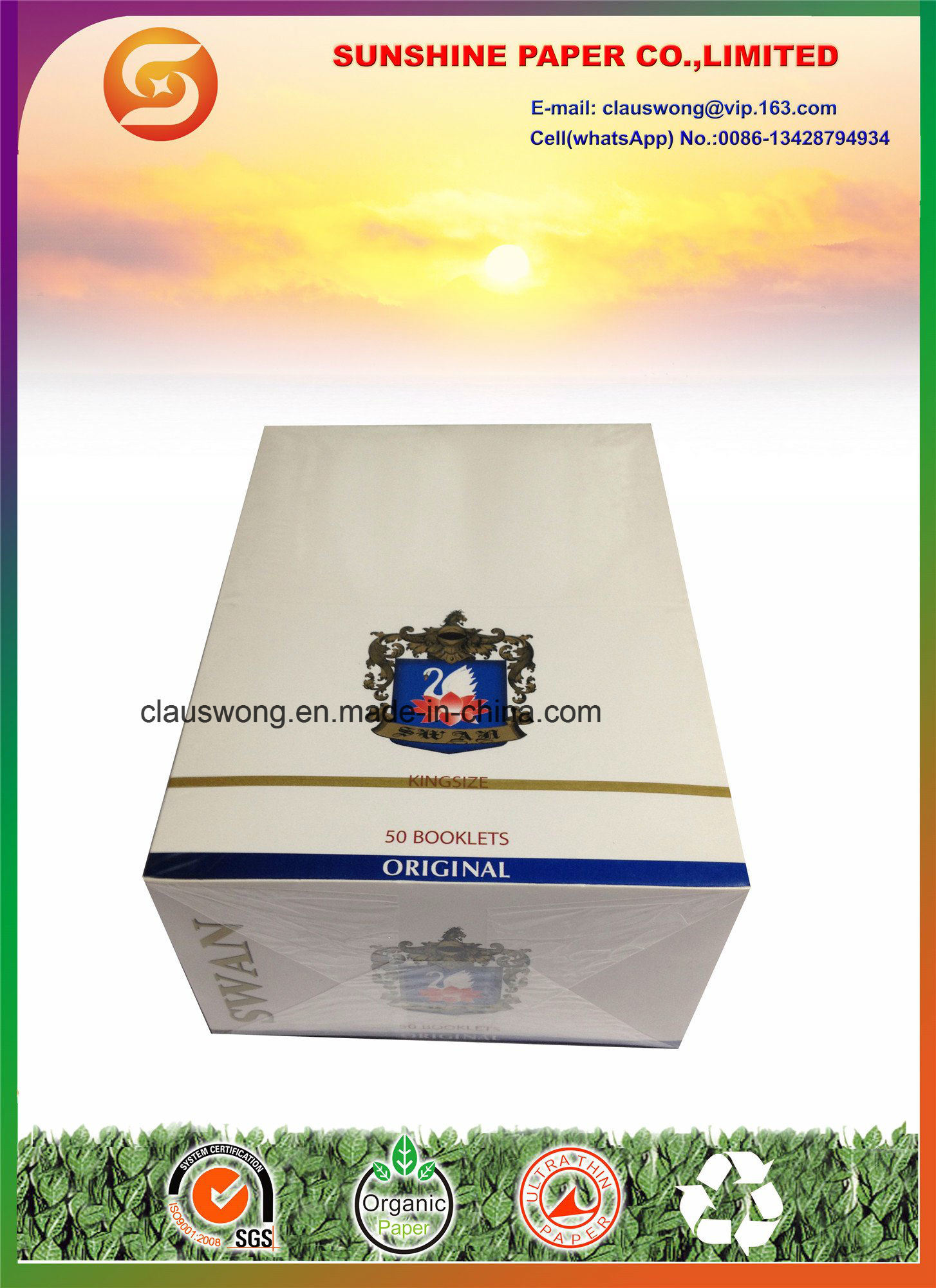King Size Swan Cigarette Paper