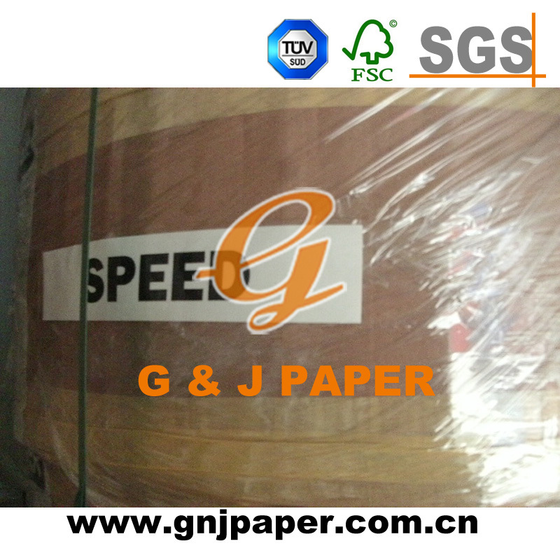 48GSM 323mm*7500m Thermal Paper in Jumbo Roll with Pallet Packaging
