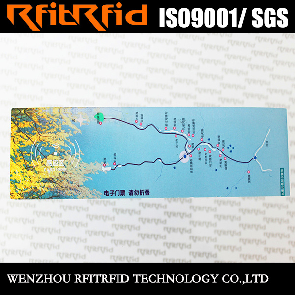 13.56MHz Color Printing Reusable RFID Paper Ticket