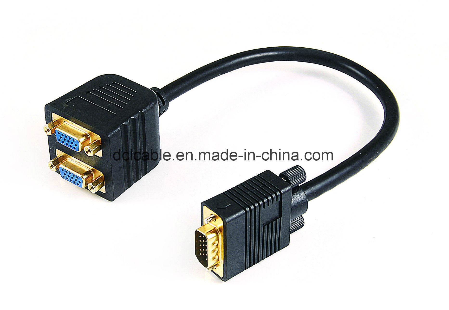 VGA Male to VGA 2*Female Cable
