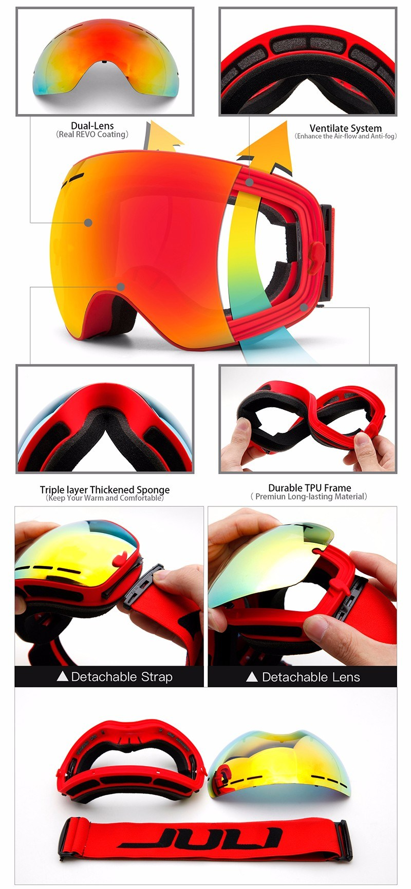 Adult Skiing Goggles Ultra-Light Winter Snow Goods