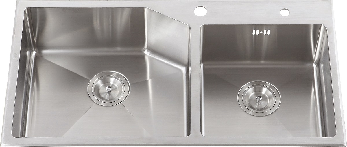S2112 Topmount Hand Made Stainless Steel Kitchen Sink