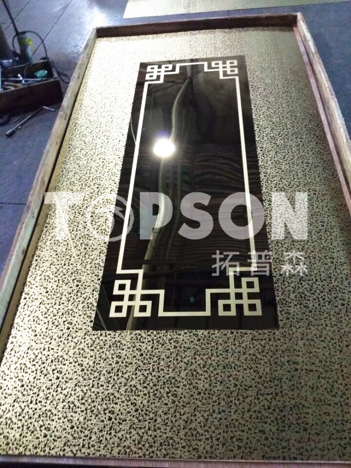 201 304 316 Decorative Stainless Steel Plate Sheet with 8k Mirror Etched Finish
