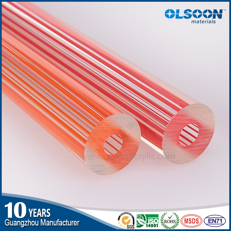 Olsoon Hot Sale Threaded Acrylic PMMA Tube