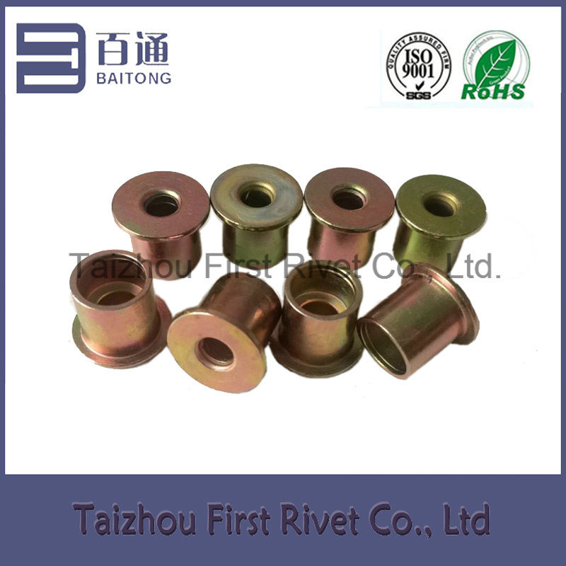 9.4X10mm Zinc Plated Flat Head Full Tubular Clutch Rivet