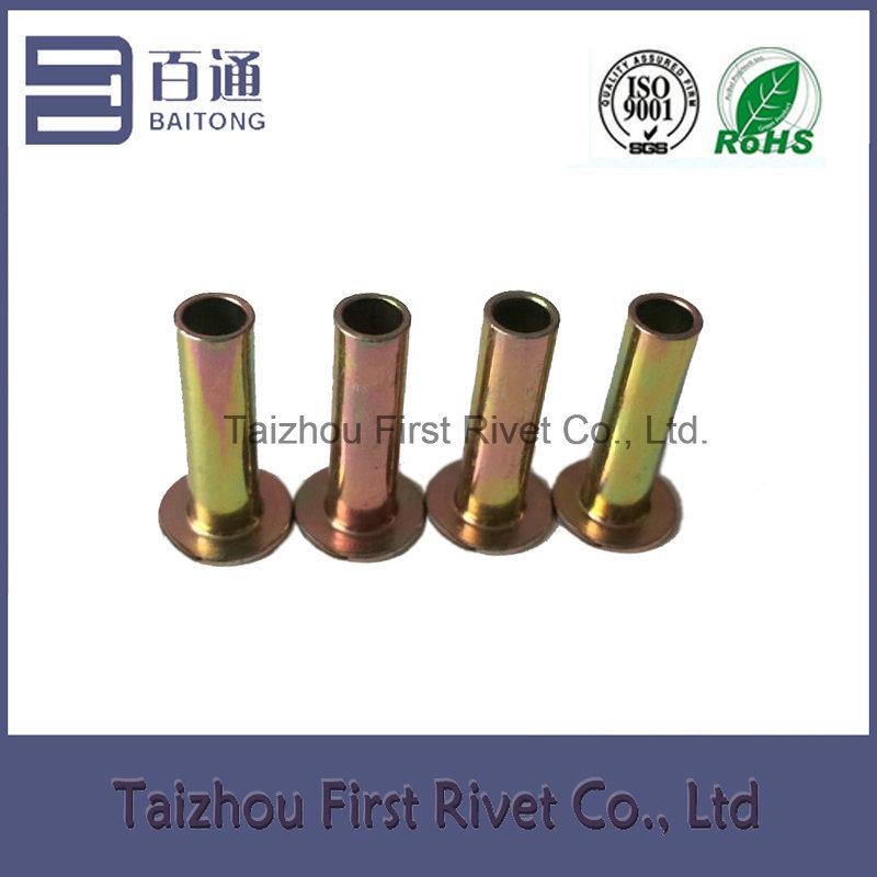 6.3X22 Zinc Plated Flat Head Full Tubular Steel Brake Lining Rivet