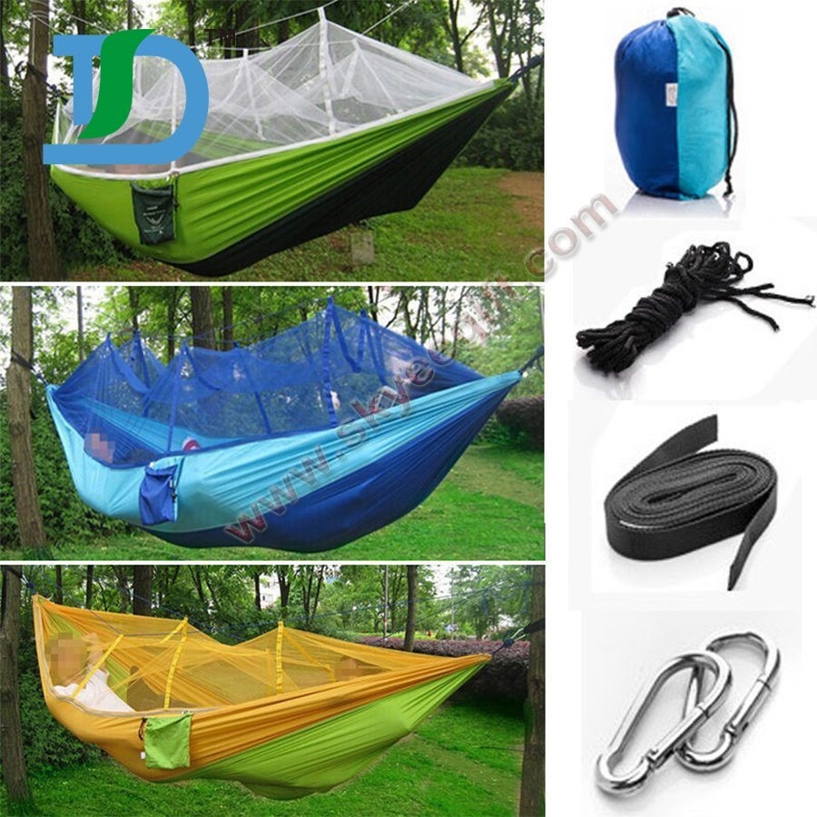 Wholesale Cheap Nylon Parachute Camping Hammock with Mosquito Net