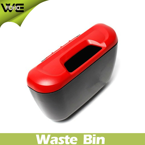 Blue Garbage Can Plastic Waste Bin for Car (FH-AB001)