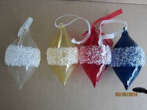 Glass Pyriform Hang Decoration for Christmas