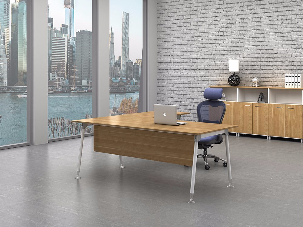 White Customized Metal Steel Office Executive Table Frame Ht92-2