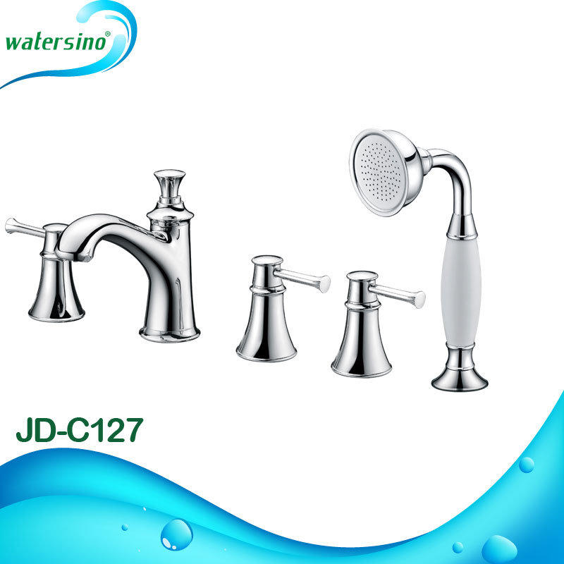 Cupc and Ce Certified Modern Chrome Sleek 2 Way Rainfall and Hand Shower Suite