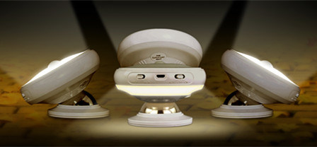 360 Degree Night Lamp, USB Charge LED with Dual Sensor Night Light, Rotating Body Sensor Night Light