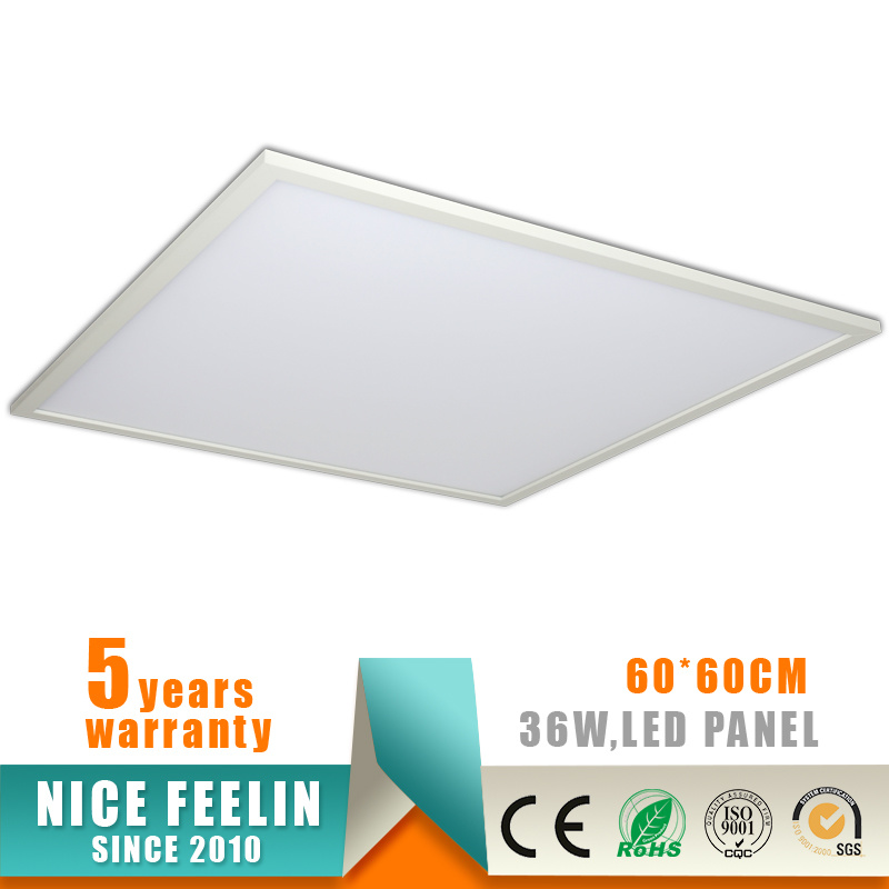 5years Warranty 36W 60X60cm LED Panel with Ce Approval