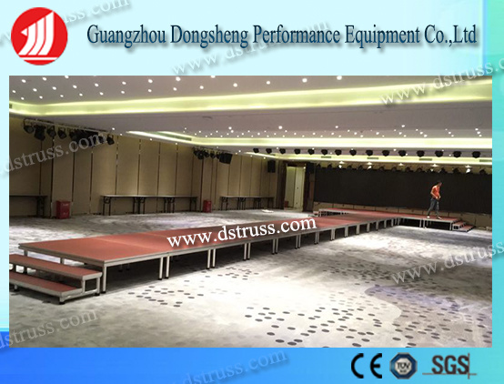 Hot Sale Indoor Performance/ Wedding Decoration/ Dinner Party /Big Event/Concert/Shows/Catwalk/Hotel Opening Ceremony Portable Stage/Adjustable Mobile Stage