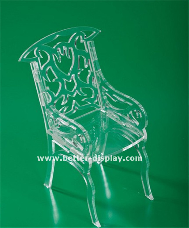 Clear Acrylic Plastic Folding Chair (BTR-Q3018)