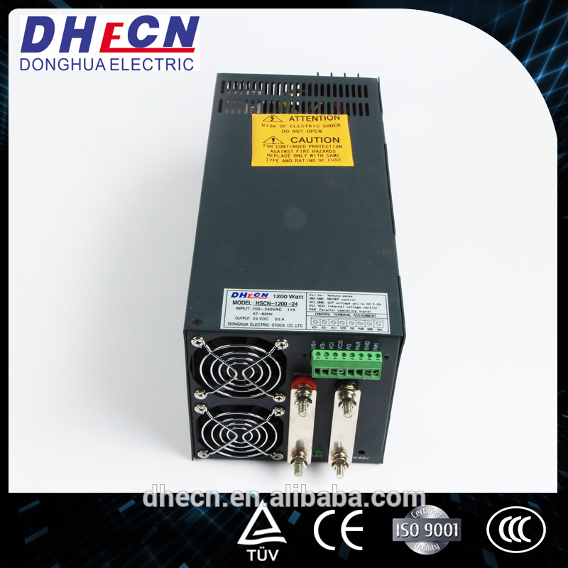 HSCN-1200, 1200W Switching Power Supply with Parallel Function 24VDC, 50A