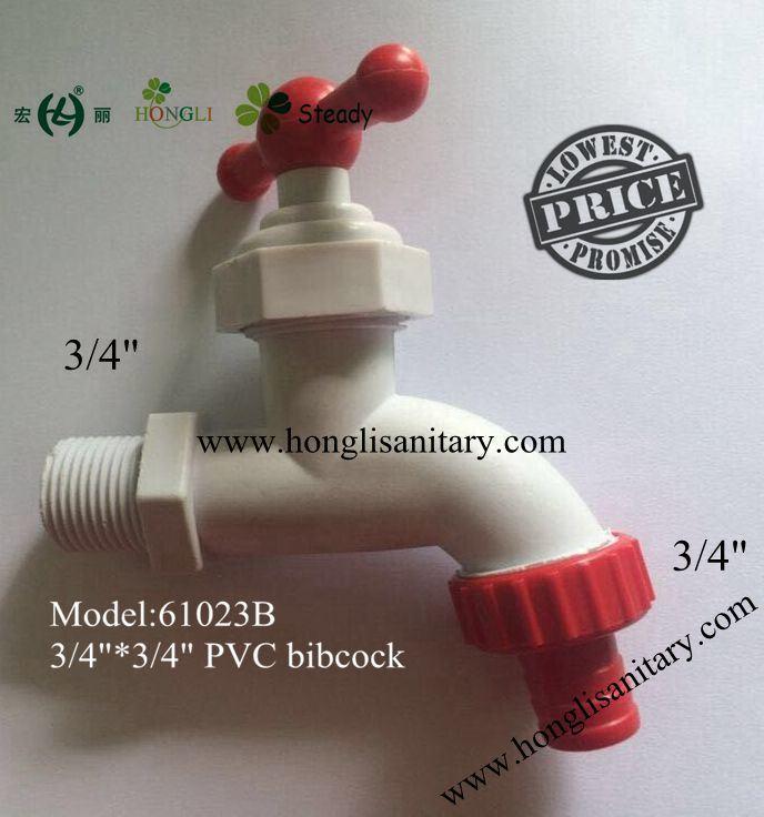 61024 South American Market ABS Plastic Faucet, PVC Bibcock