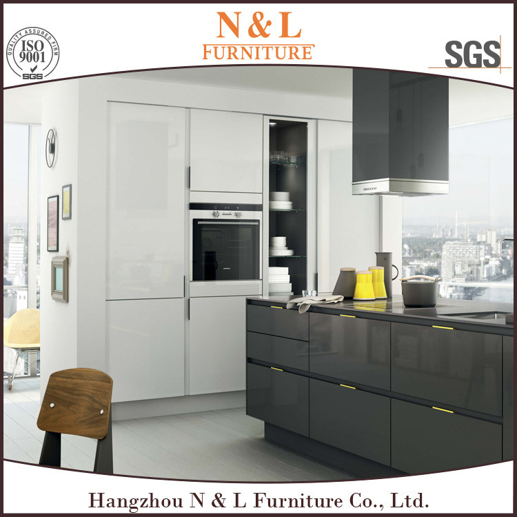 MDF Wooden Furniture Modern Style High Gloss Lacquer Kitchen Cupboard