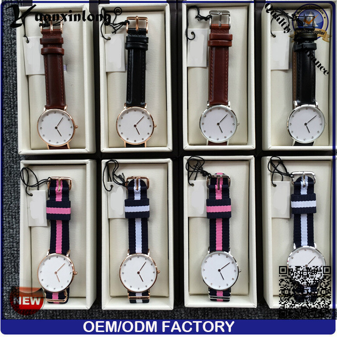 Yxl-218 Promotional Custom Diamond Watch Elegant Simple Design Colorful Nylon Strap Watch Fashion Casual Quartz Men Women Wristwatch