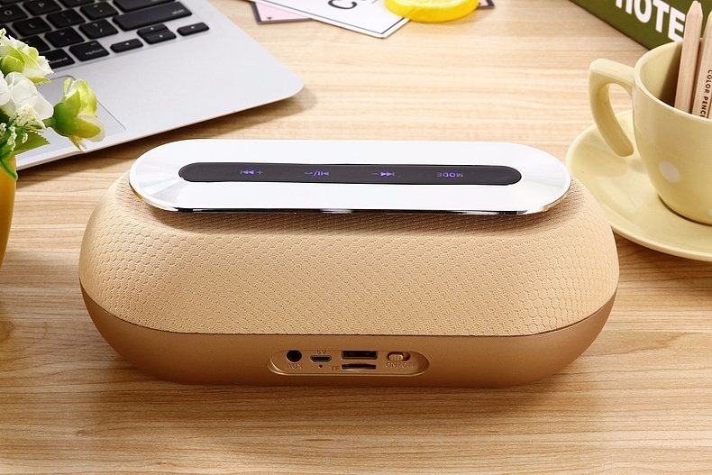 Fabric Portable Wireless Bluetooth Speaker Daniu Ds-7614 with Touch Control (AUX/Bluetooth /FM/TF card)