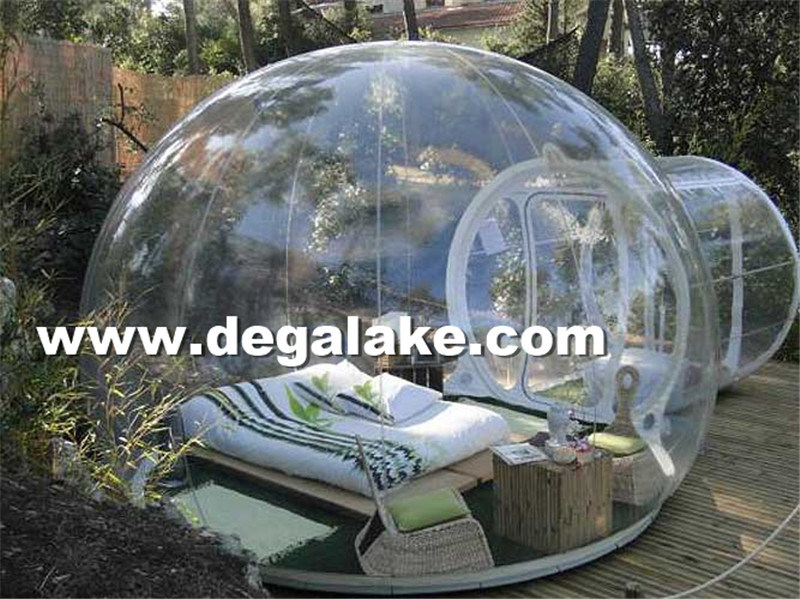 Transparent PVC or TPU Inflatable Clear Tent or Dome Tent