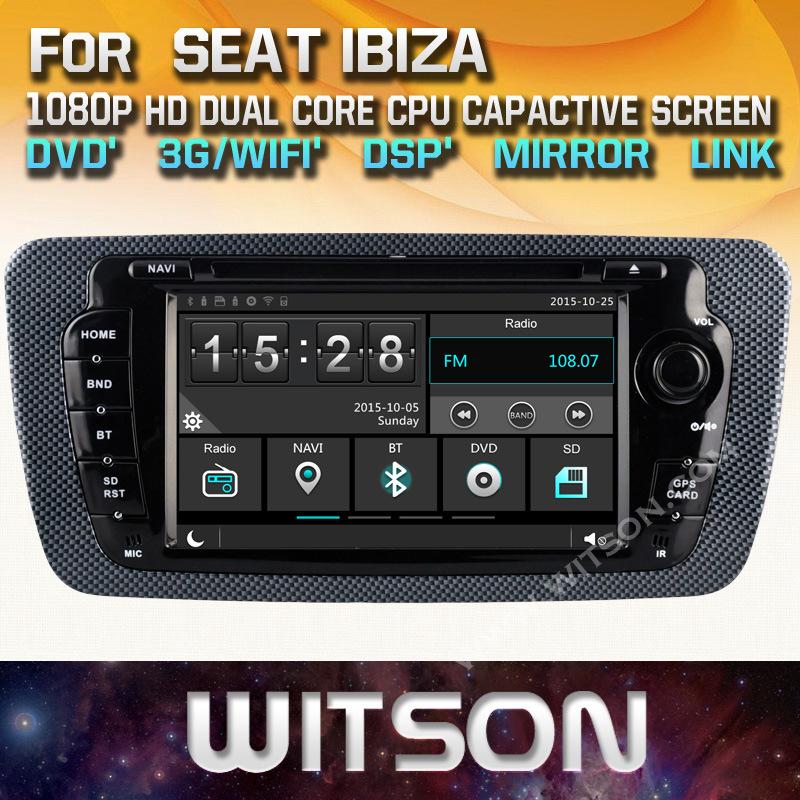 Witson Wince Auto Navigation for Seat Ibiza (W2-E8790)