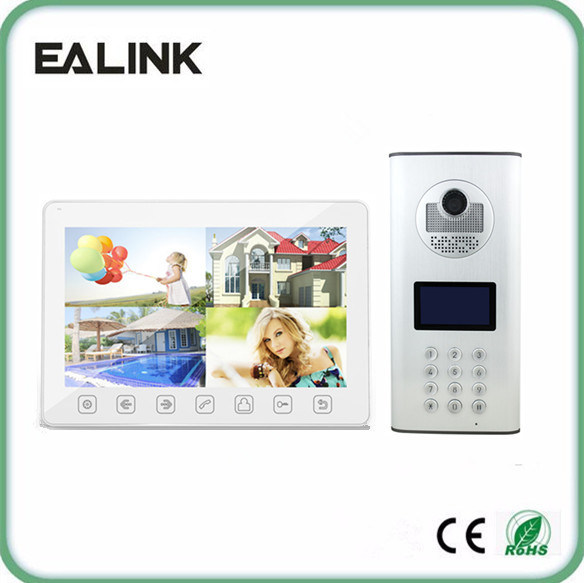 4 Wire Video Door Phone Apartment Door Entry System