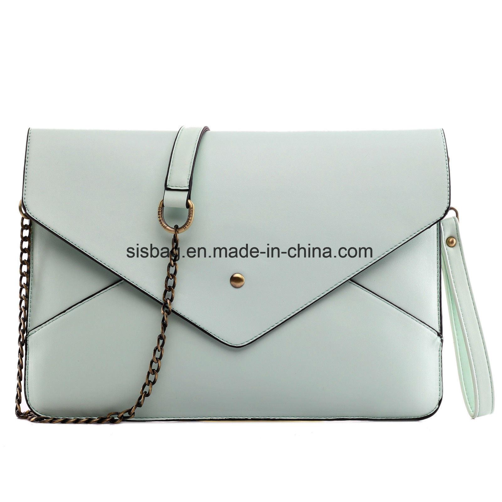 Womens Party Envelope Evening Bag PU Clutch Purse Bag
