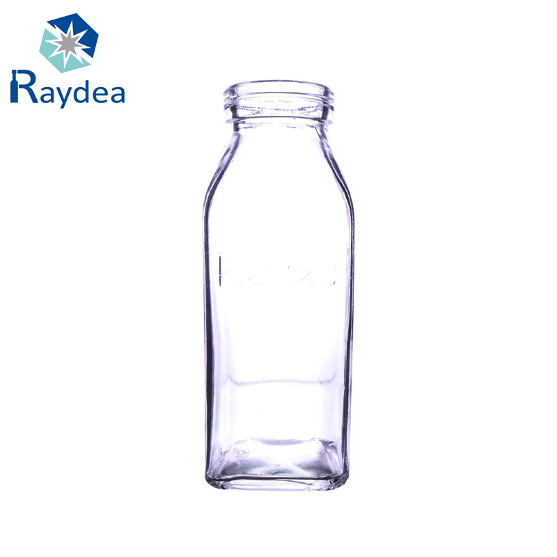 500ml French Square Glass Beverage Bottle with Plastic Cap