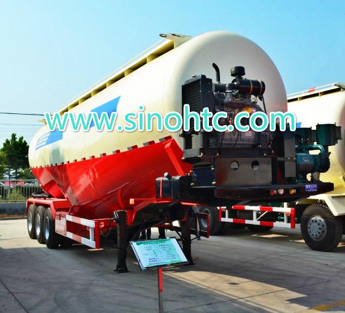 40-55cbm Bulk powder tank trailer / Cement Tank Trailer
