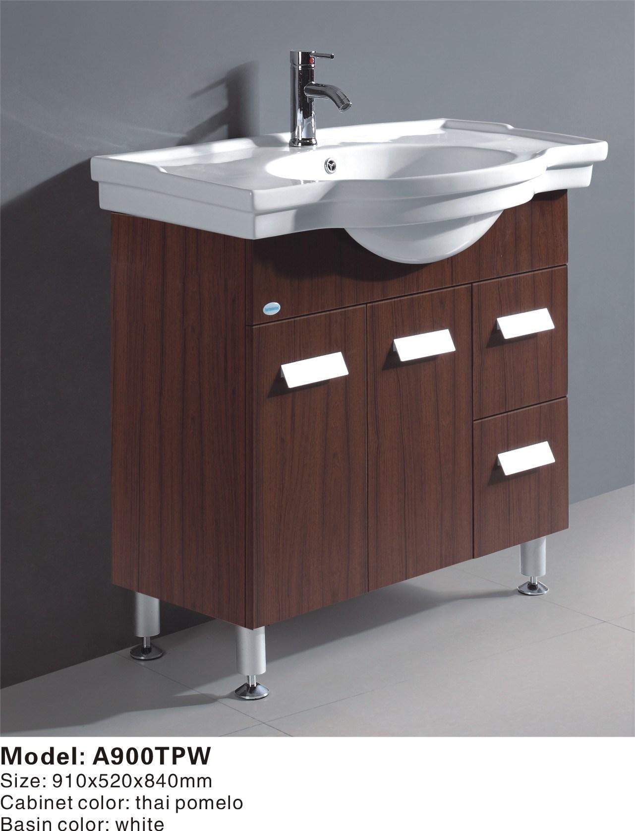 China MDF Bathroom Vanities A900TPW China Bathroom Cabinet Bathroom Vanity