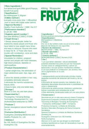 Reduce Weight Capsule - Fruta Bio (GT-FB01)