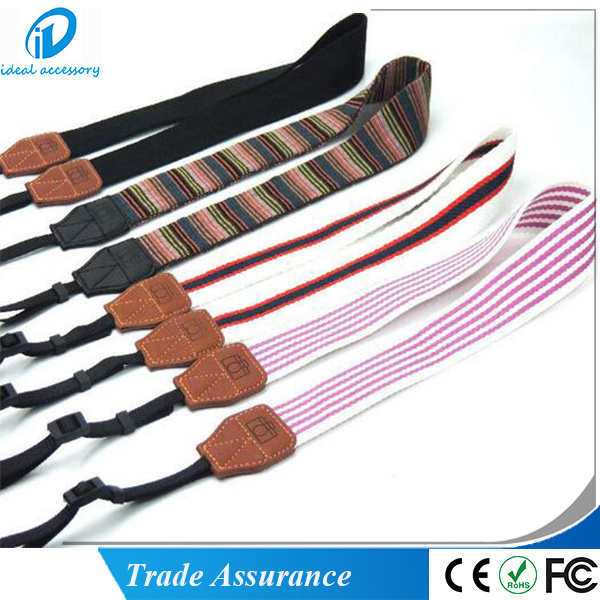Stock Strip Pattern Woven Braid Polaroid Camera Hang Rope Strap