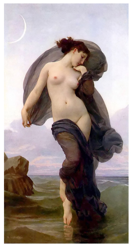 Famous Artists Oil Painting, Masterpiece Oil Painting Reproduction, Le Crepuscule (1882years) -William Adolphe Bouguereau