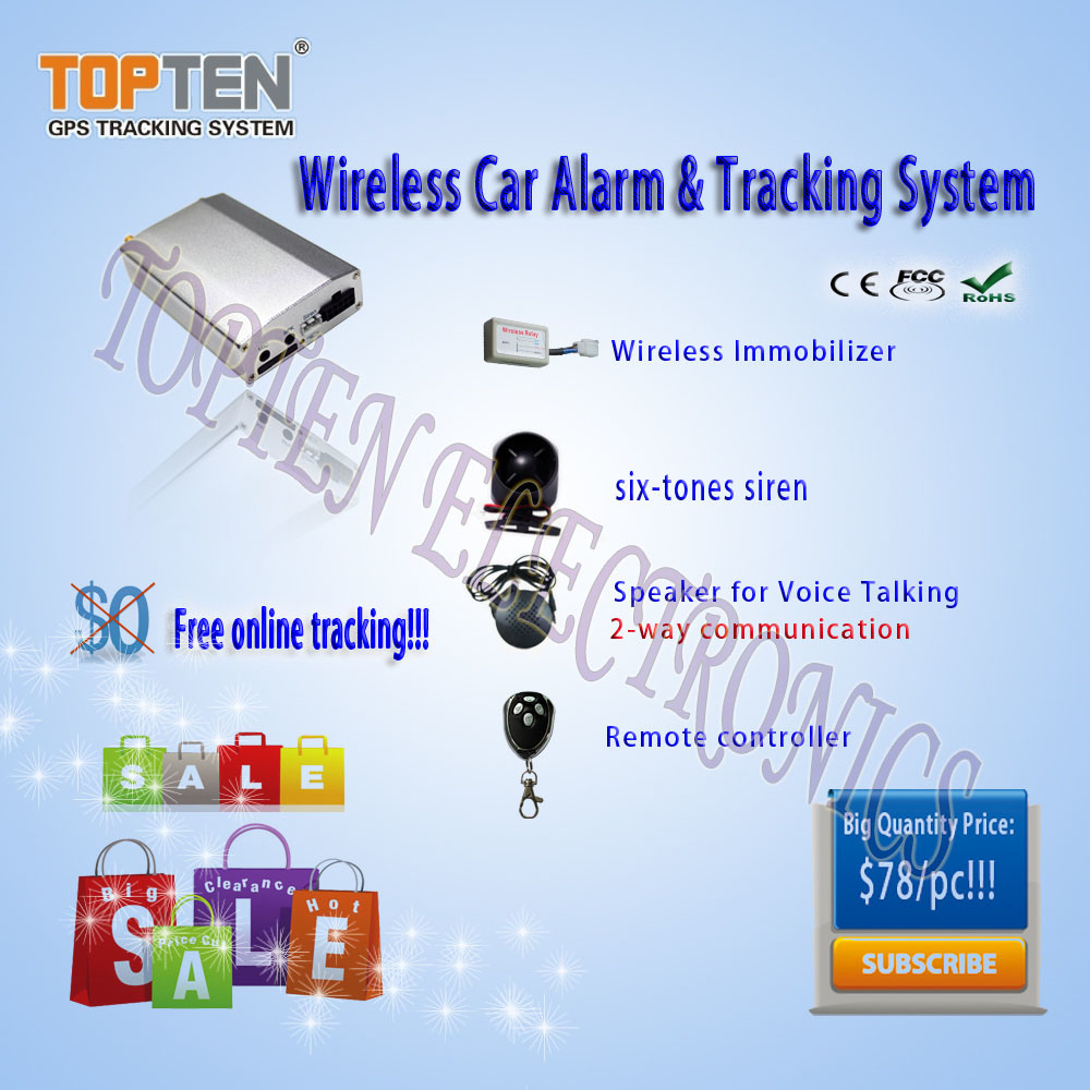Wireless GPS Vehicle Tracker & Alarm with CE, FCC, RoHS (TK210-ER44)