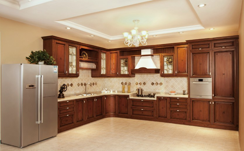 China american maple solid wood kitchen cabinet v sv012 for American maple kitchen cabinets
