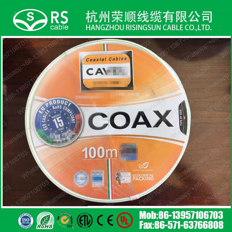 Italy Type 75ohm Sat602 Coaxial Cable for Satellite/CCTV System