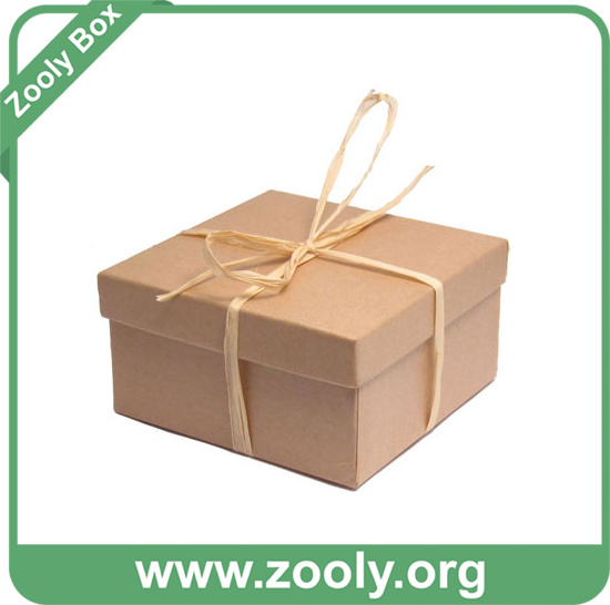 Natural Brown Kraft Paper Cardboard Gift Box with Lid