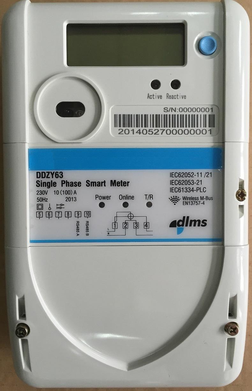 Single Phase Remote Watt Power Meter