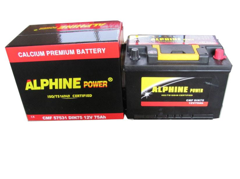 Mf Car Battery/ Lead Acid Battery/DIN75 Mf 12V75ah Starting Battery
