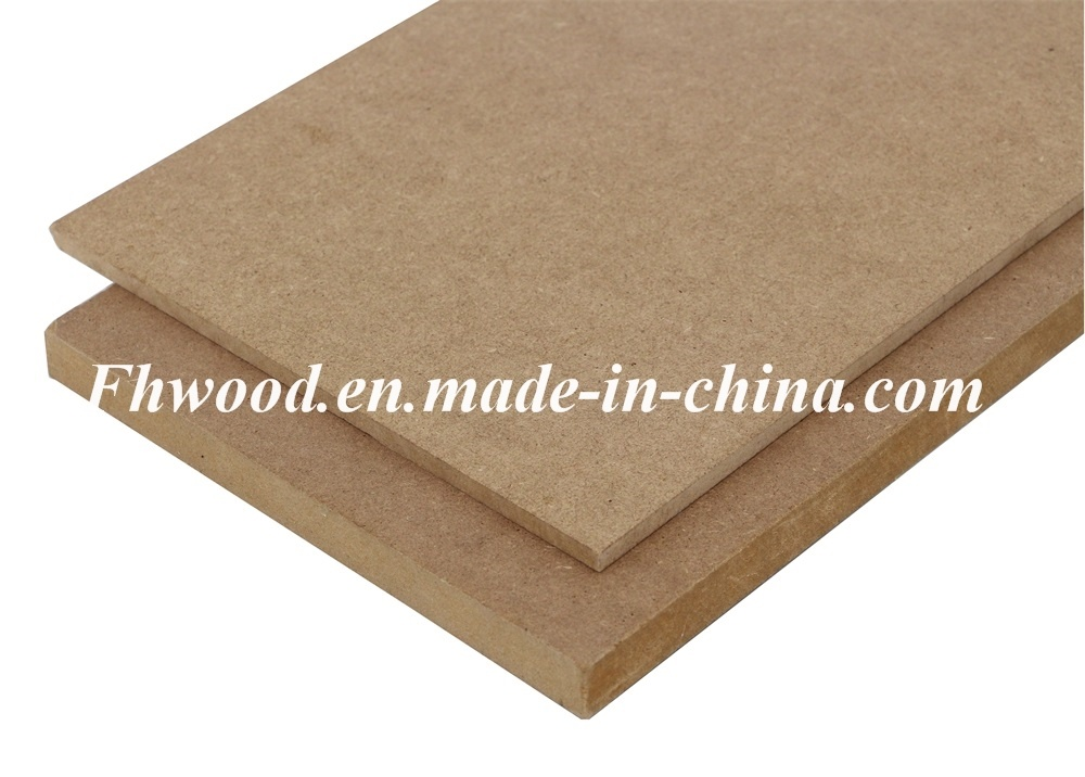 Chinese Plain MDF (Medium-density firbreboard) for Furniture