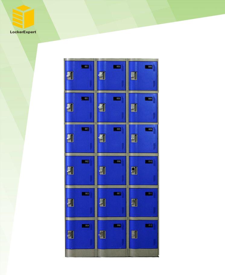 Electronic Plastic Locker for Supermarket, Gym and Dressingroom Le32